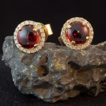 Diamond & Garnet Earrings